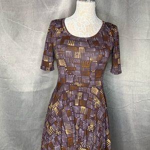 LuLaRoe Dresses - LULAROE MUTED PURPLE DRESS